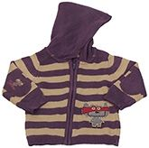 Stripes Design Hooded Sweater