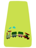 Train Bedspread Colourful train bedsheet and pillow cover set