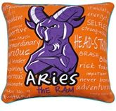 Home Blendz Cotton Printed Zodiac Cushion Cover - Aries