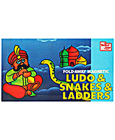 United Toys - Magnetic Fold Away Ludo & Snakes & Ladders