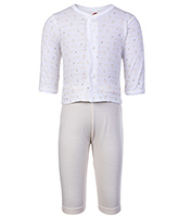 Buy Zero Full Sleeves Printed Vest And Pant Set
