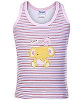Buy Tango Sleeveless Vest with Tiger Print - Pink