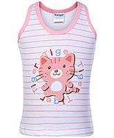 Buy Tango Sleeveless Vest with Tiger Print - Light Pink