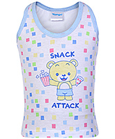 Buy Tango Sleeveless Vest Bear with Snack Attack Print - Blue