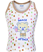 Buy Tango Sleeveless Vest Bear with Snack Attack Print - Brown