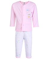 Buy Zero Full Sleeves Printed Vest And Pant - Pink