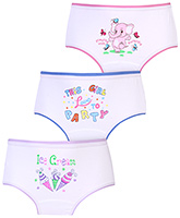 Bodycare Multi Image Print Panties White - Set of 3