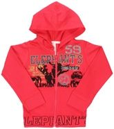 Full Sleeves Hooded Sweat Shirt With Elephants Print