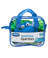 Playgro  -  Bathtime Animals Boy 3 Months+, 8 Pieces, Squeezy bath toys for your kids...