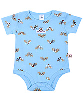 Buy ToffyHouse Half Sleeves Onesies Blue - Animal Print