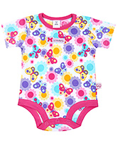 Buy ToffyHouse Half Sleeves Onesies - Butterfly Print