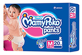 Mamy Poko Pants Pant Style Diapers Medium - 20 Pieces