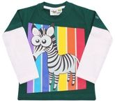 Grasshopper - Glow In Dark Full Sleeves T-Shirt With Zebra Print