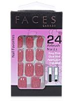 Faces Nail Favorites 24 Artificial Nails - Red o Red