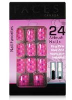 Faces Nail Favorites 24 Airbrush Nails -  Purple