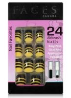 Faces Nail Favorites 24 Airbrush Nails - Fiery Yellow
