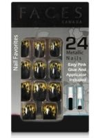 Faces Nail Favorites 24 Metallic Nails