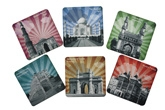Eco Corner - Monuments of India Sunburst Coaster Set