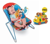 Fisher Price - Adorable Animals Baby's Bouncer with Free Gift
