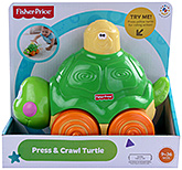 Fisher Price - Press & Crawl Turtle