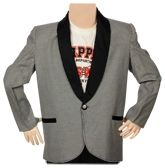 Exclusive Coat Suit With Checks Print