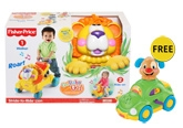 Fisher Price - Go Baby Go Stride-to-ride Lion with Free Gift