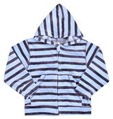 Hooded Sweat Shirt With Stripes For Cool Look