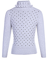 Star Print High Neck Sweater