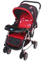 Fab N Funky Baby Pram With Rocking Function - Red