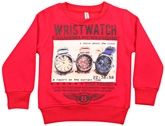 Stylish Sweat Shirt With Wrist Watch Print