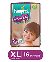 Pampers Active Baby Diapers XL - 16 Pieces