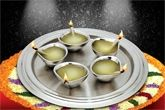 Silver Queen - Diya Thali Set