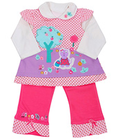 Full Sleeves Dot Printed Frock and Leggings Set