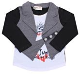 Full Sleeves T-Shirt With Attached Jacket