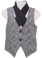 Sleeveless Jacket with Muffler