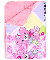 Fab N Funky - Light Pink Bear Changing Mat