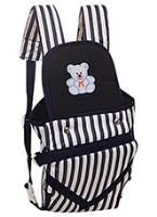 Buy Fab n Funky - Black & White Stripes Baby Carrier