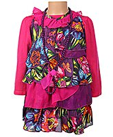 Little Kangaroos - Frock With Floral Print