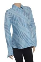 Uzazi - Maternity Wear Full Sleeve Diagonal Stripes Shirt