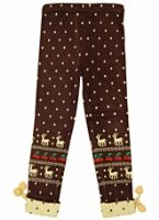 Warm Leggings - Deer Print