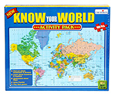 Creative's Know Your World - Activity Pa... 7 Years+, 100 Pcs, Find out about Continents and Oc...