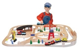 Melissa & Doug - Wooden Railway Set