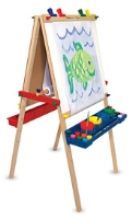 Melissa &amp; Doug - Deluxe Wooden Standing Art Easel 