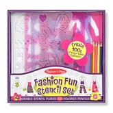 Fashion Fun Stencil Set 4 Years+, 11.63 X 11 X 1.75 Inch, The Gorgeous & Gli...