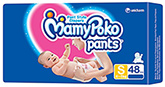 Mamy Poko Pants Pant Style Diapers S (4-8 Kg), 48 Pieces
