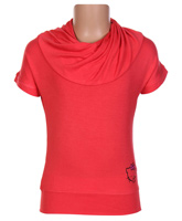 Hello Kitty - Comfortable Half Sleeves Red Top