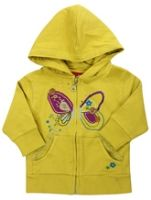 Little Pixie - Hooded Sweat Shirt With Butterfly Print