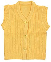 V Neck Front Open Sleeveless Sweater