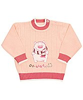 Full Sleeves Bear Print Sweater