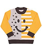 Full Sleeves Sweater - Smiley Face